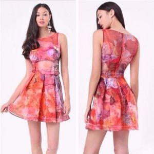 [BEBE] 3 Piece Organza Dress  4